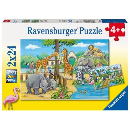 """Пазл  """"Добро пожаловать в зоопарк"""", 2х24 элемента Ravensburger"""
