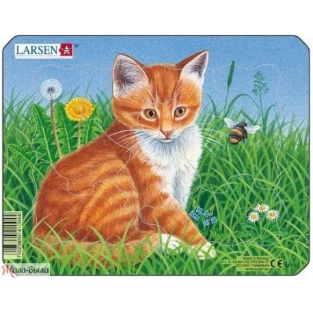 Пазл  котенок рыжий mini Larsen (Норвегия)