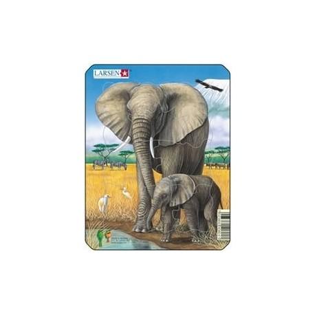 Пазл Слон и слоненок Larsen (Норвегия) V4