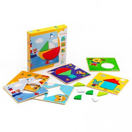 """Развивающая игра  """"Пазл-Танграм"""" мини Djeco (Франция) 01672"""