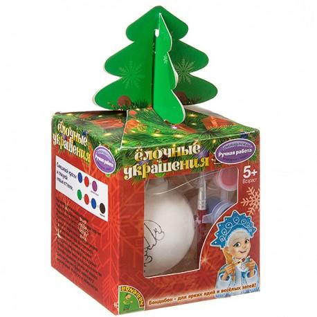 Шар со снеговичком в подарочной упаковке с ёлочкой Bondibon