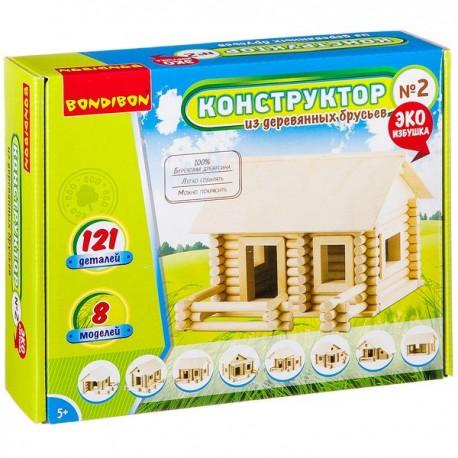 Конструктор из деревянных брусьев №2 Bondibon