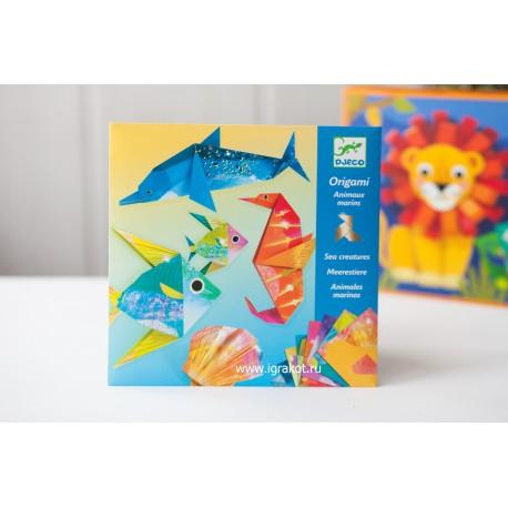 Набор для оригами «Оригами» с неоновым эффектом  Djeco (Франция) 08754