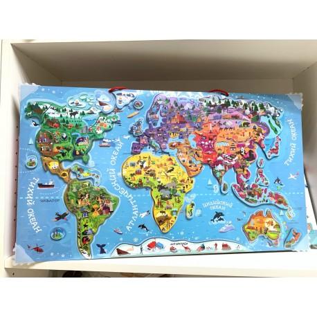 Магнитная карта мира Геопазл (Россия)