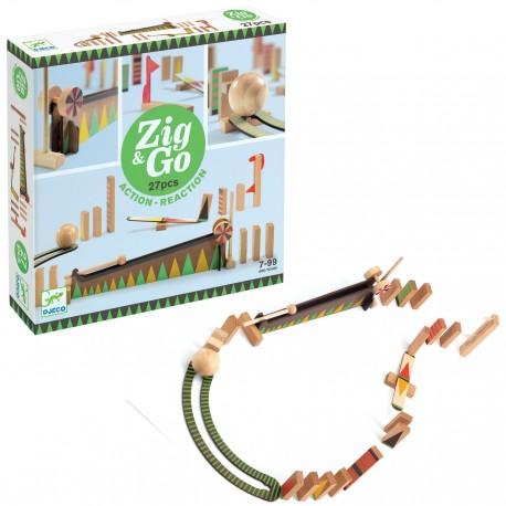 Деревянный конструктор Zig Go (Зиг гоу) 27 деталей Djeco (Франция) 05641