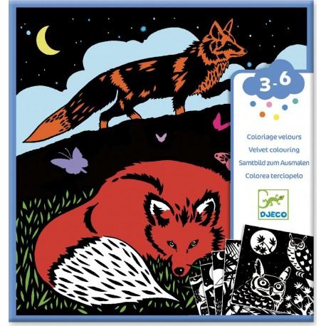 Бархатные раскраски  «Лес» Djeco (Франция) 09623