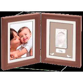 Рамочка двойная (цвет шоколад) Baby Art