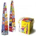 Кубики Пирамидка забавные животные Djeco (Франция)