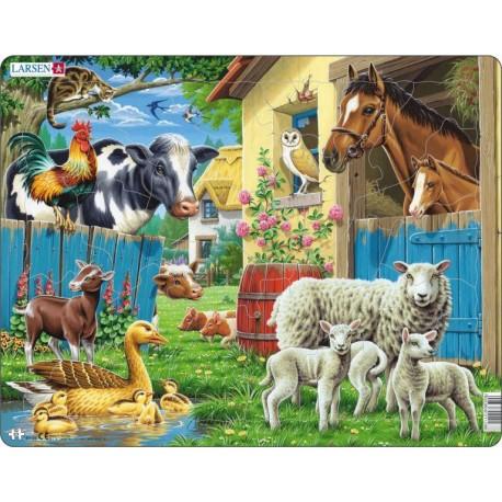 """Пазл """"Животные фермы"""" Larsen(Норвегия)"""